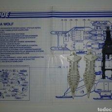 Figuras y Muñecos Gi Joe: GIJOE GI JOE LOTE INSTRUCCIONES Y PIEZAS COBRA WOLF. Lote 178737135