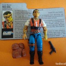 Figuras y Muñecos Gi Joe: FIGURA GI JOE SGT-SLAUGHTER-RENEGADES RED-DOG V.1 100% COMPLETA 1987 GI JOE .. Lote 124199699