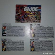 Figuras y Muñecos Gi Joe: GIJOE GI JOE - LOTE DE 4 FICHAS Y CATÁLOGO 1991 EN ESPAÑOL (TIGER FORCE EXCLUSIVES). Lote 125270211