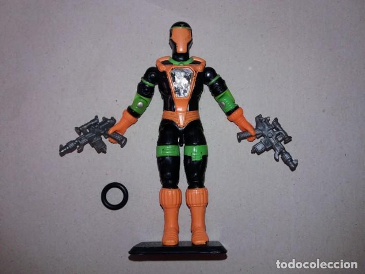 FIGURA GIJOE COBRA B.A.T. / S.A.C V2 S10 1991. CON MANO + ARMAS + BASE + ANILLA RECAMBIO. GI JOE BAT (Juguetes - Figuras de Acción - GI Joe)
