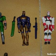 Figuras y Muñecos Gi Joe: 3 FIGURAS DE GI JOE VALOR VS VENOM (AÑOS 2000) NINJAS CON ESPADAS. Lote 144650134