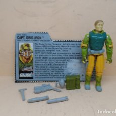 Figuras y Muñecos Gi Joe: GIJOE CAPT. GRID-IRON V1 (BARRA DE ACERO) 1990 HASBRO. Lote 144717238
