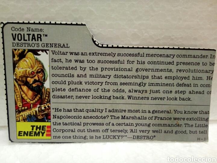 Figuras y Muñecos Gi Joe: Gi Joe VOLTAR V.1 de 1988. DESTRO GENERAL. Completa con Filecard en inglés. - Foto 5 - 145670209