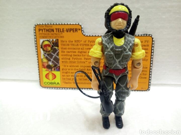 GI JOE PYTHON PATROL TELE-VIPER V.2 DE 1989. COMPLETA CON FILECARD EN INGLÉS. (Juguetes - Figuras de Acción - GI Joe)