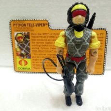 Figuras y Muñecos Gi Joe: GI JOE PYTHON PATROL TELE-VIPER V.2 DE 1989. COMPLETA CON FILECARD EN INGLÉS.. Lote 145671818