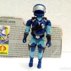 Figuras y Muñecos Gi Joe: GI JOE MOTOR VIPER V.1 DE 1986. COBRA STUN DRIVER. Lote 163017378