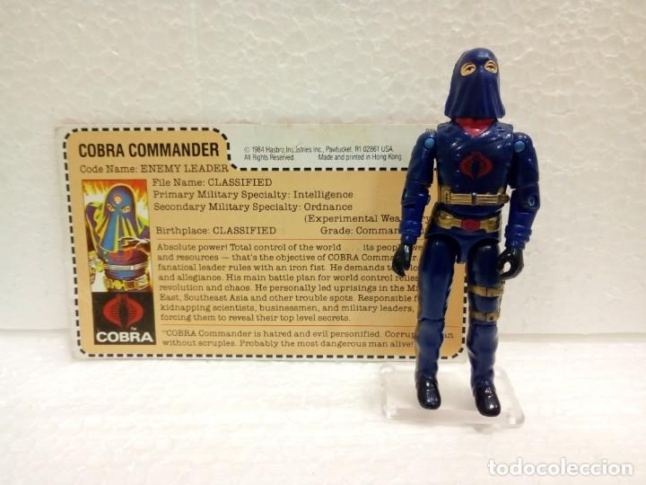 GI JOE COBRA COMMANDER V.2 DE 1984. ENEMY LEADER CON FILECARD USA. MAIL INS (Juguetes - Figuras de Acción - GI Joe)
