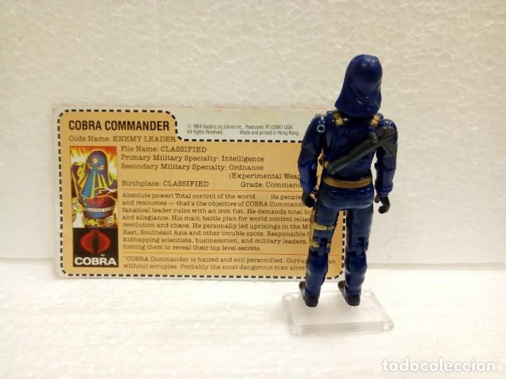 Figuras y Muñecos Gi Joe: Gi Joe COBRA COMMANDER V.2 de 1984. ENEMY LEADER con Filecard USA. MAIL INS - Foto 2 - 166836178