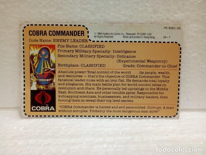 Figuras y Muñecos Gi Joe: Gi Joe COBRA COMMANDER V.2 de 1984. ENEMY LEADER con Filecard USA. MAIL INS - Foto 7 - 166836178