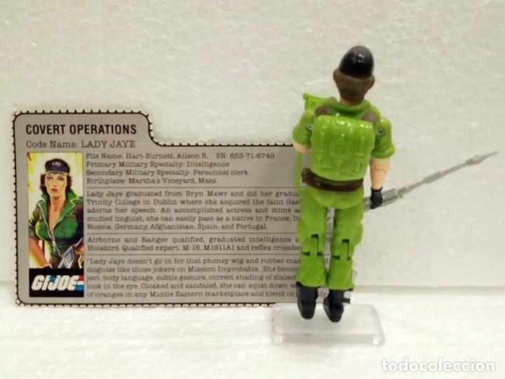 Figuras y Muñecos Gi Joe: Gi Joe LADY JAYE V.1 de 1985. COVERT OPERATIONS. Con Filecard USA. - Foto 2 - 166844226