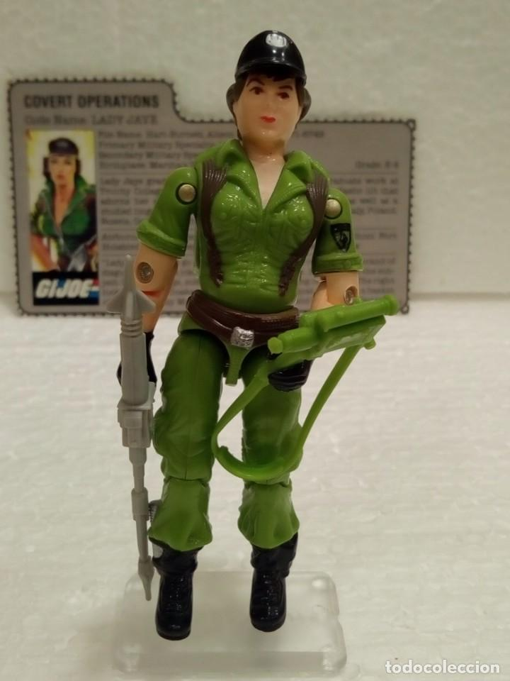 Figuras y Muñecos Gi Joe: Gi Joe LADY JAYE V.1 de 1985. COVERT OPERATIONS. Con Filecard USA. - Foto 3 - 166844226
