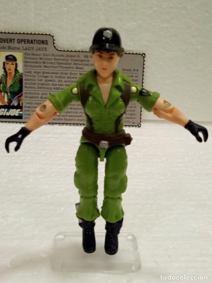 Figuras y Muñecos Gi Joe: Gi Joe LADY JAYE V.1 de 1985. COVERT OPERATIONS. Con Filecard USA. - Foto 4 - 166844226
