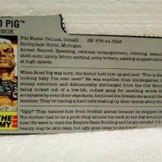 Figuras y Muñecos Gi Joe: GI JOE FILECARD ROAD PIG V.1 DE 1988. DREADNOK. EN INGLÉS USA. Lote 177552643