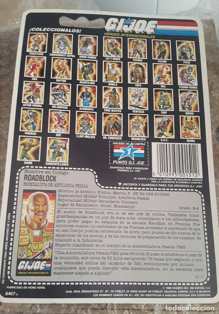 Figuras y Muñecos Gi Joe: ROADBLOCK EN BLISTER ESPAÑOL. GI JOE -HÉROES INTERNACIONALES- HASBRO, MB ESPAÑA 1988 - Foto 3 - 178906053