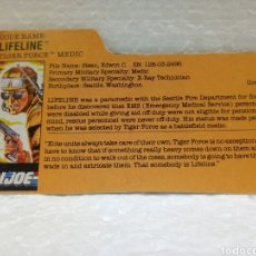 Figuras y Muñecos Gi Joe: GI JOE FILECARD LIFELINE V. 2 DE 1988. TIGER FORCE EN INGLÉS USA. Lote 181754336