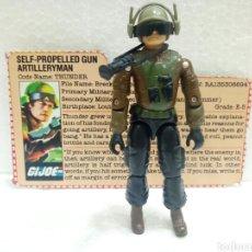 Figuras y Muñecos Gi Joe: GI JOE THUNDER V.1 DE 1984. SELF-PROPELLED GUN ARTILLERYMAN CON FILECARD EN INGLÉS USA.. Lote 183079601