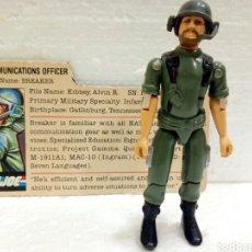 Figuras y Muñecos Gi Joe: GI JOE BREAKER V.1 DE 1982. COMMUNICATIONS OFFICER (STRAIGHT-ARMED). CON FILECARD EN INGLÉS USA.. Lote 183208218