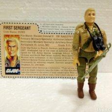 Figuras y Muñecos Gi Joe: GI JOE DUKE V.1 DE 1983 MAIL-IN. FIRST SERGEANT. CON FILECARD EN INGLÉS USA.. Lote 183275373
