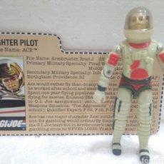 Figuras y Muñecos Gi Joe: GI JOE ACE V.1 DE 1983. FIGHTER PILOT OF SKYSTRIKER [XP-14F] COMBAT JET.. Lote 184248492