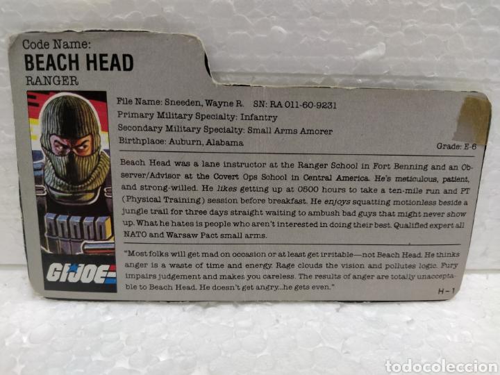GI JOE FILECARD BEACH HEAD V.1 DE 1986. RANGER EN USA EN INGLÉS USA (Juguetes - Figuras de Acción - GI Joe)