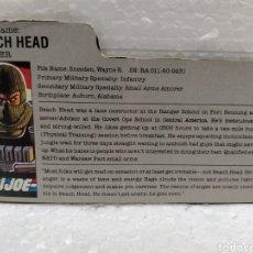 Figuras y Muñecos Gi Joe: GI JOE FILECARD BEACH HEAD V.1 DE 1986. RANGER EN USA EN INGLÉS USA. Lote 190922572