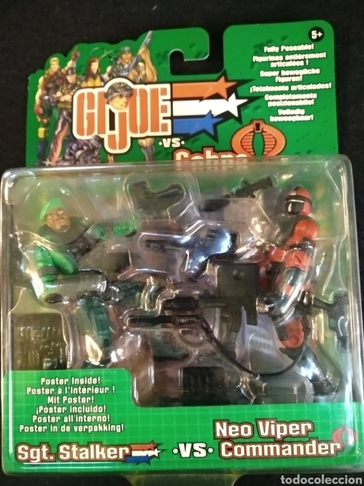 Figuras y Muñecos Gi Joe: Gi-joe VS Cobra, hasbro, Sgt.stalker vs Neo Viper comander. En blister - Foto 2 - 194077301