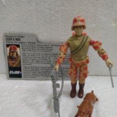 Figuras y Muñecos Gi Joe: GI JOE LÍDER Y MAX V.1 DE 1988. CON FILECARD EN CASTELLANO. COMPLETO. Lote 198511401