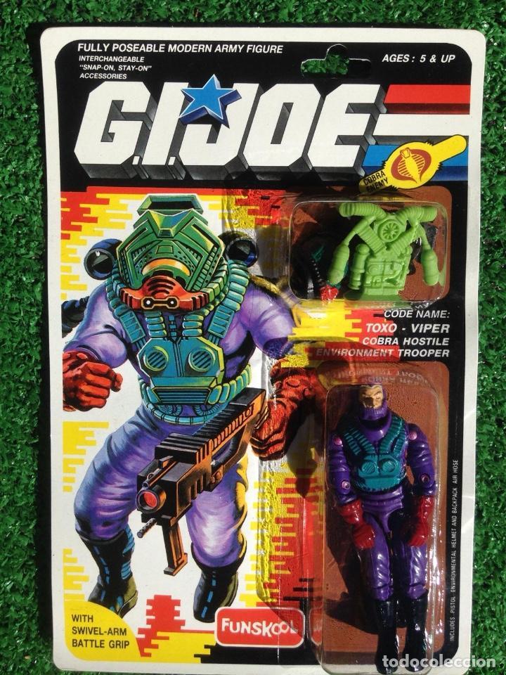 Figuras y Muñecos Gi Joe: 2 BLISTER GIJOE GI JOE toxo-viper AIRTIGHT PRECINTADO IMPECABLE AÑOS 80 ORIGINAL COBRA HEROES - Foto 2 - 231787430
