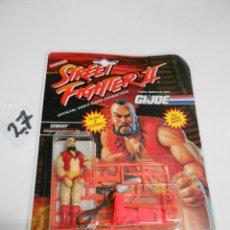 Figuras y Muñecos Gi Joe: ANTIGUO BLISTTER STREET FIGHTER II – GI JOE – ZANGIEF – NUEVO SIN USAR. Lote 204095521