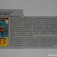 Figuras y Muñecos Gi Joe: GI JOE - FICHA TOXO-VÍBORA EN ESPAÑOL (AÑOS 80). S_N. Lote 205868121