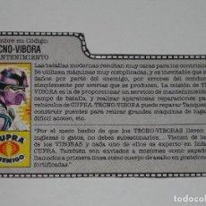 Figuras y Muñecos Gi Joe: GI JOE - FICHA TECNO-VÍBORA EN ESPAÑOL (AÑOS 80) #1. S_N. Lote 205868232