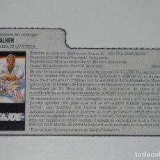 Figuras y Muñecos Gi Joe: GI JOE - FICHA STALKER EN ESPAÑOL (AÑOS 80). S_N. Lote 205868278