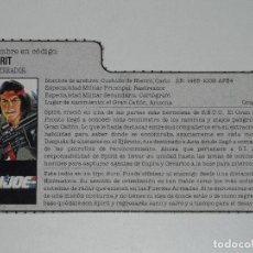 Figuras y Muñecos Gi Joe: GI JOE - FICHA SPIRIT EN ESPAÑOL (AÑOS 80) BASTANTE DIFÍCIL. JL/S_N. Lote 205868338