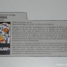 Figuras y Muñecos Gi Joe: GI JOE - FICHA SOMBRA EN ESPAÑOL (AÑOS 80). S_N. Lote 205868426