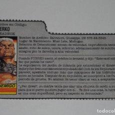 Figuras y Muñecos Gi Joe: GI JOE - FICHA PUERKO EN ESPAÑOL (AÑOS 80). S_N. Lote 205868766