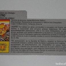 Figuras y Muñecos Gi Joe: GI JOE - FICHA DESTRO EN ESPAÑOL (AÑOS 80). S_N. Lote 205869900