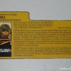 Figuras y Muñecos Gi Joe: GI JOE - FICHA CABLE TIGER FORCE EN ESPAÑOL (AÑOS 80). JL/S_N. Lote 205870182
