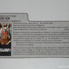 Figuras y Muñecos Gi Joe: GI JOE - FICHA BUDO SON EN ESPAÑOL (AÑOS 80). JL/S_N. Lote 205870383