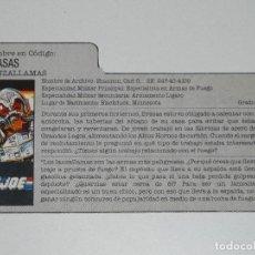 Figuras y Muñecos Gi Joe: GI JOE - FICHA BRASAS EN ESPAÑOL (AÑOS 80). JL/S_N. Lote 205870390