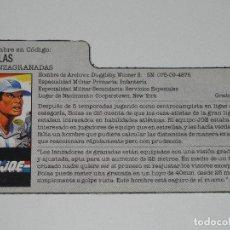 Figuras y Muñecos Gi Joe: GI JOE - FICHA BOLAS EN ESPAÑOL (AÑOS 80). JL/S_N. Lote 205870423