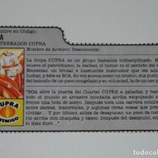 Figuras y Muñecos Gi Joe: GI JOE - FICHA BOA EN ESPAÑOL (AÑOS 80). JL/S_N. Lote 205870445