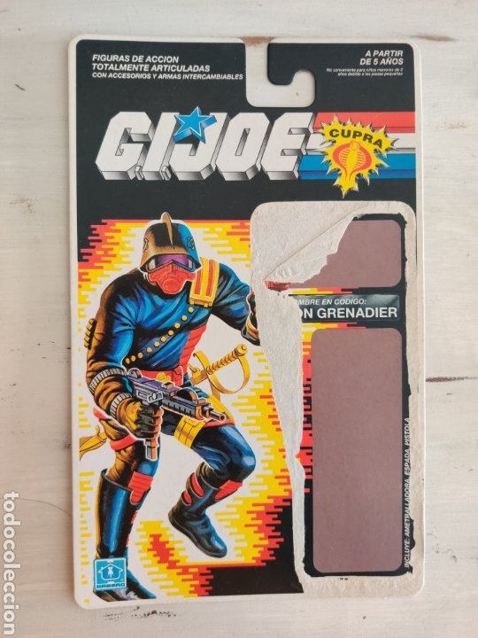 FICHA CARTON ORIGINAL GI JOE IRON GRENADIER (Juguetes - Figuras de Acción - GI Joe)