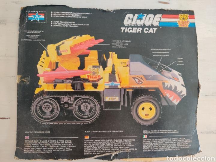 CARTON FICHA DEL TIGER CAT GI JOE (Juguetes - Figuras de Acción - GI Joe)