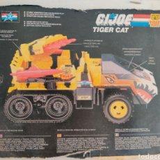 Figuras y Muñecos Gi Joe: CARTON FICHA DEL TIGER CAT GI JOE. Lote 206547046