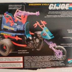 Figuras y Muñecos Gi Joe: FICHA CARTON ORIGINAL DREADNOK CYCLE HI JOE. Lote 206548707