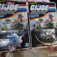 Figuras e Bonecos GI Joe: 2 BLISTERS COLECCIÓN GIJOE APARATOS DE ACCIÓN - HEROES INTERNACIONALES . GI JOE. Lote 206759872