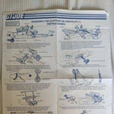 Figuras y Muñecos Gi Joe: MANUAL INSTRUCCIONES DEL DRAGONFLY XH1. Lote 206932062