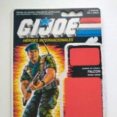 Figure e Bambolotti Gi Joe: GI JOE FICHA FALCON (V1) 1987. GREEN BERET HASBRO. Lote 209956002
