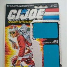 Figuras y Muñecos Gi Joe: GI JOE FICHA LIFELINE / DOC (V1) 1986. RESCUE TROOPER . HASBRO. Lote 210615885