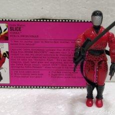 Figuras y Muñecos Gi Joe: GI JOE SLICE (V1) COBRA NINJA SWORDSMAN DE 1992. COMPLETA CON FICHA EN INGLÉS. NINJA FORCE.. Lote 218169655